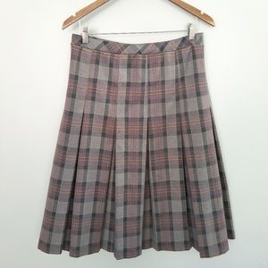{Vintage} Purple Plaid Pleated Skirt Size 10